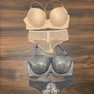 Victoria's Secret 32DDD Small xs thong metallic